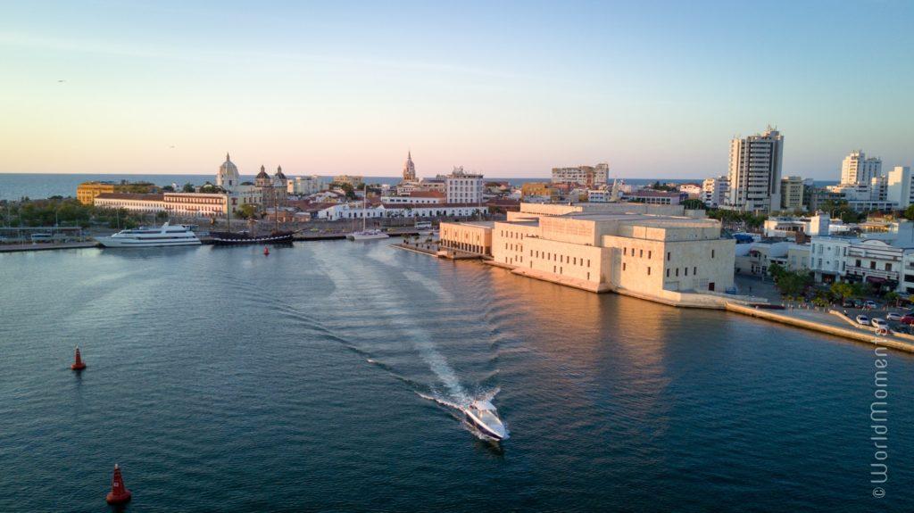cartagena centro de convenciones shot by drone