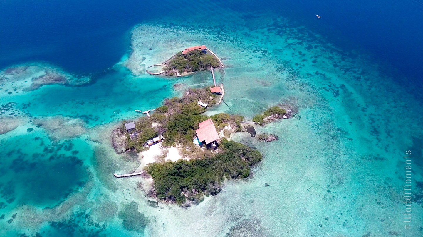 Rosario Islands - Pavito Island: One of the 28 islands from a drone perspective