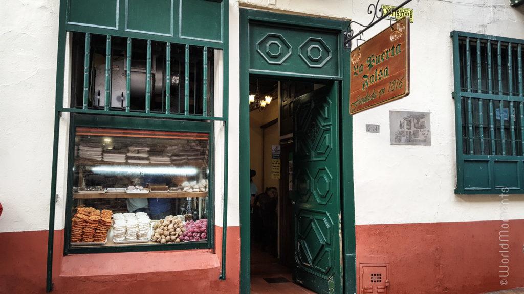 bogota puerta falsa restaurante entrada