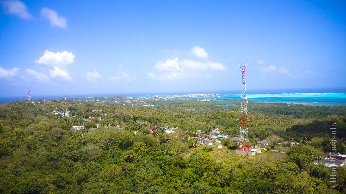 san andres north of the island birds eye view