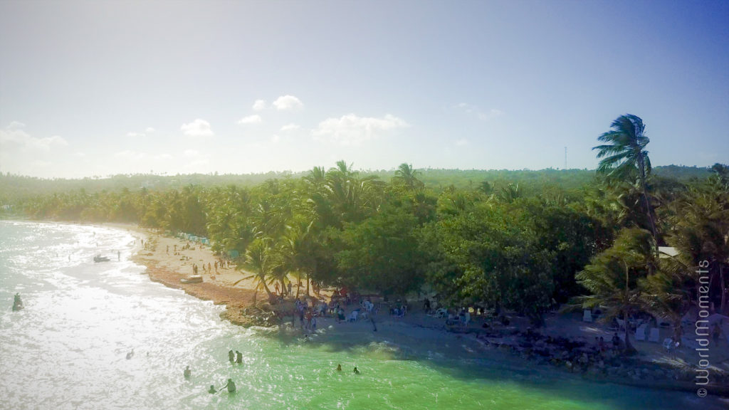 san andres rocky cay beach drone view