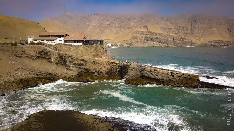 lima salto del fraile ocean restaurant mountains drone