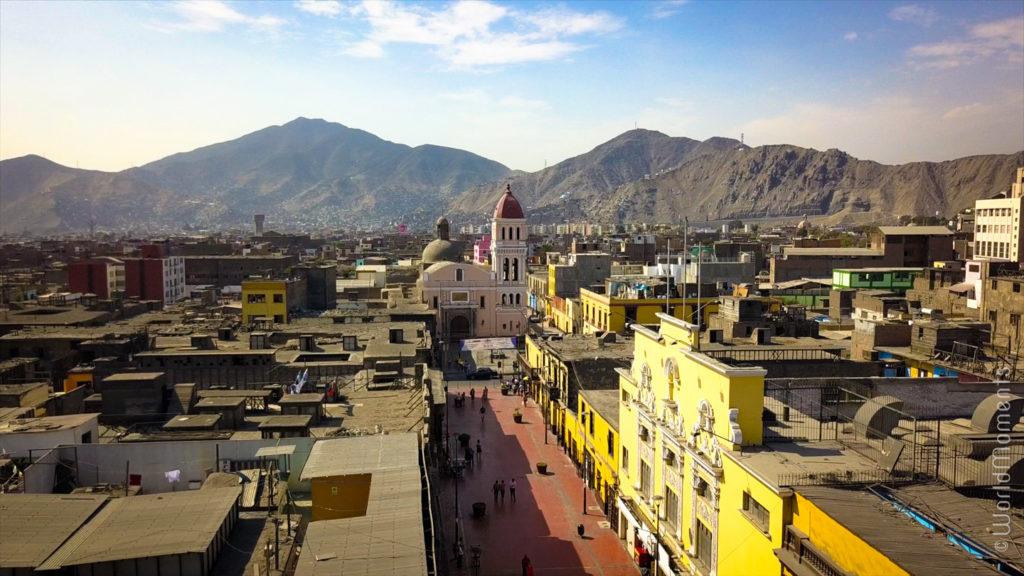 lima jiron trujillo centro historic building drone view