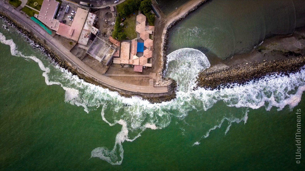 lima mirador de la punta drone view from the sky