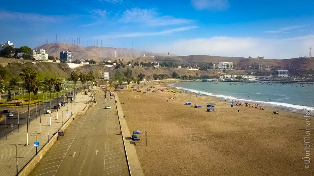 lima playa aqua dulce beach drone view