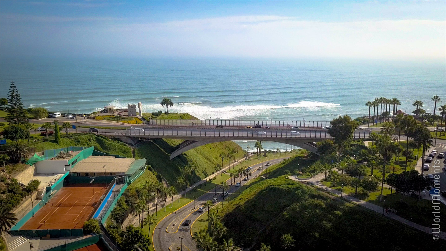 view of melizo bridge in lima