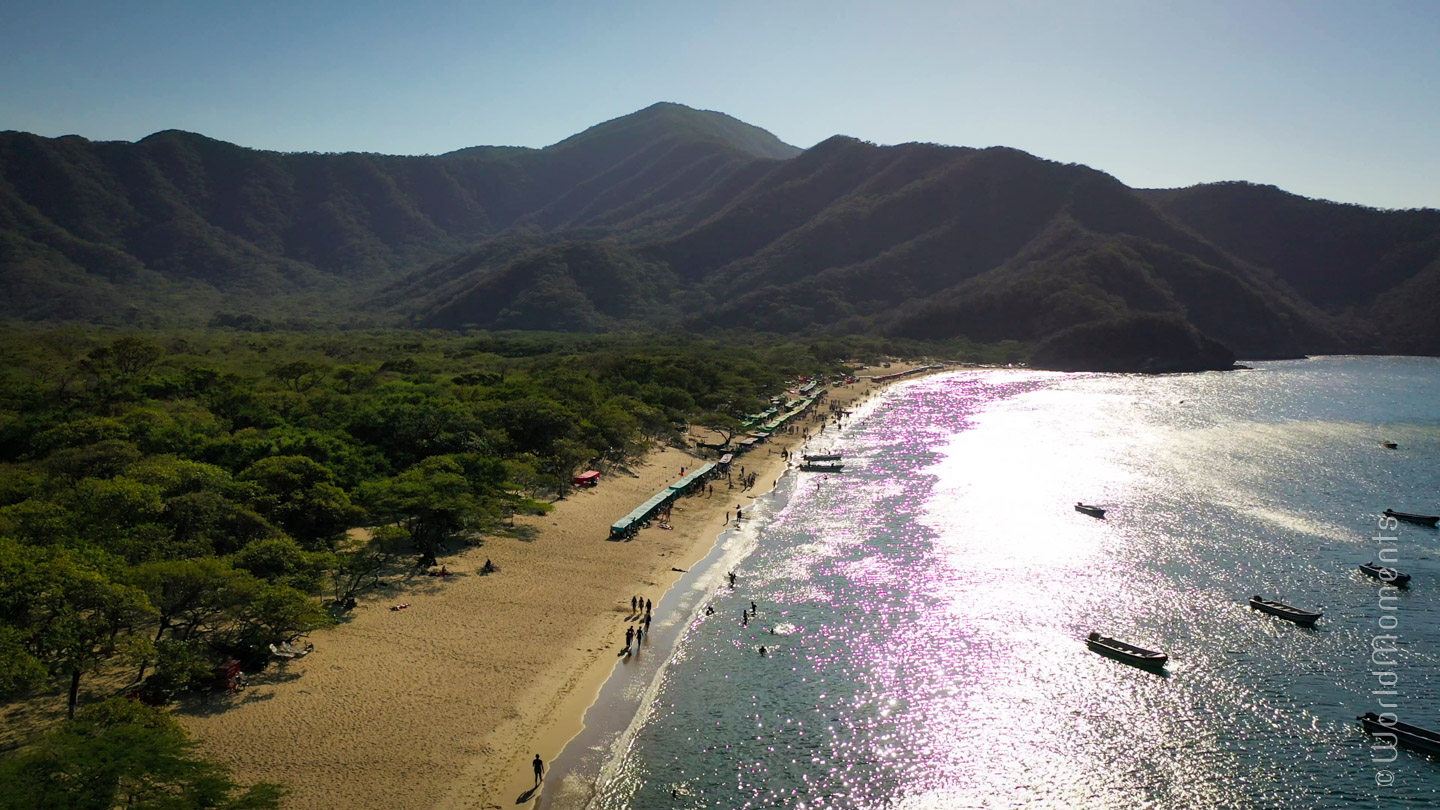 Santa Marta, Seashell Bay, shot with drone
