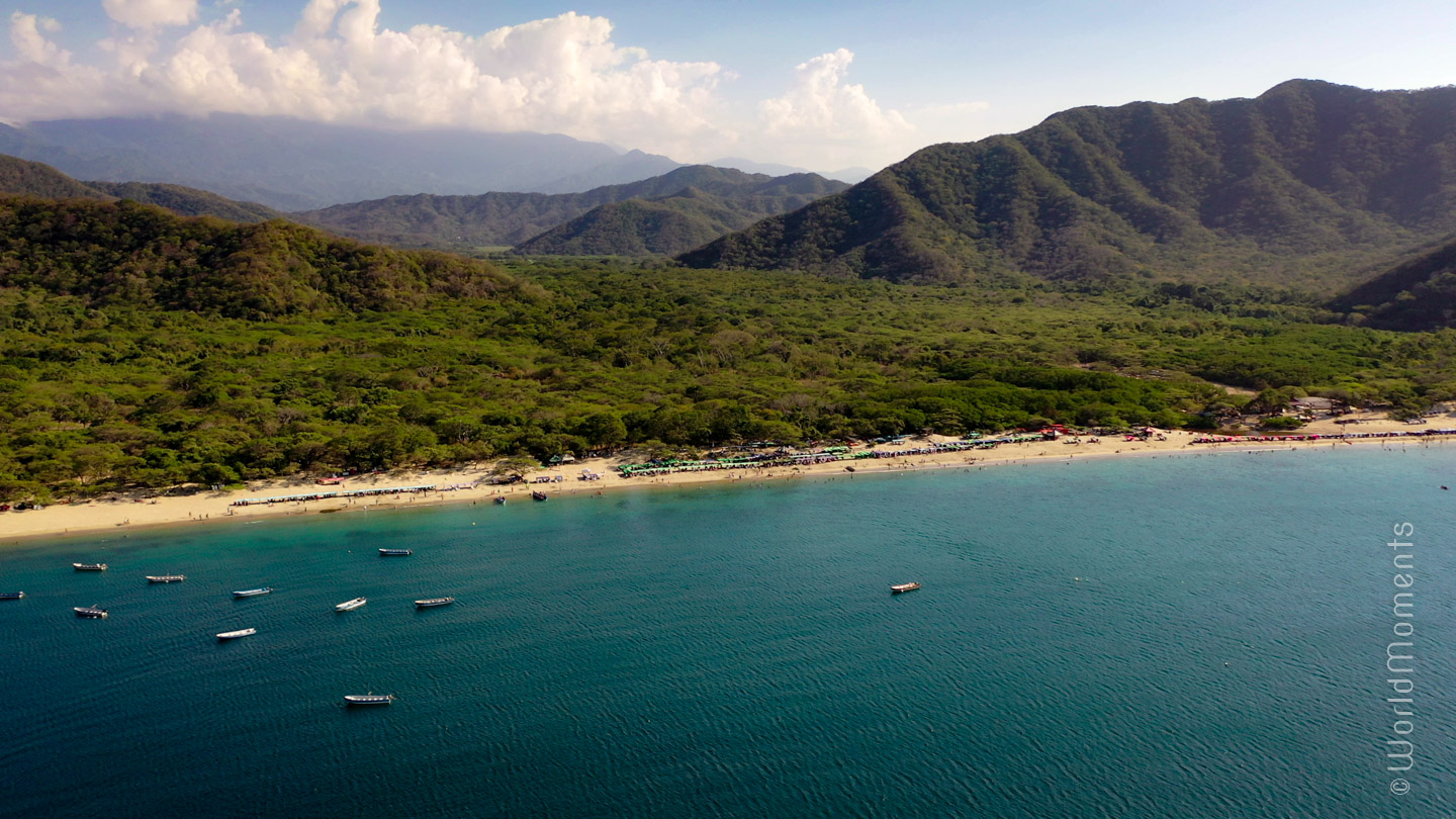 Santa Marta, Bahia Concha, beach view