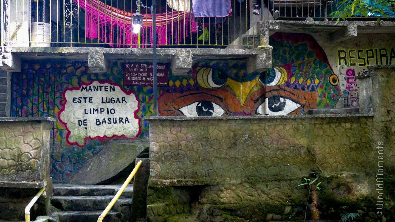 Santa Marta, Minca, graffiti on the wall