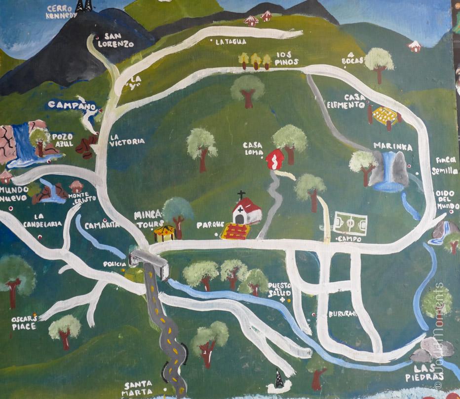 Santa Marta, Minca, map