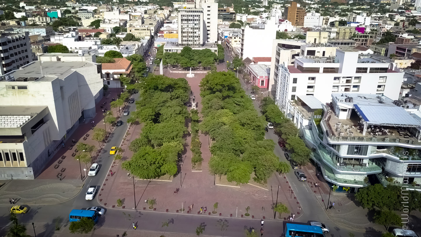 Santa Marta, Simon Bolivar Park, shot with drone
