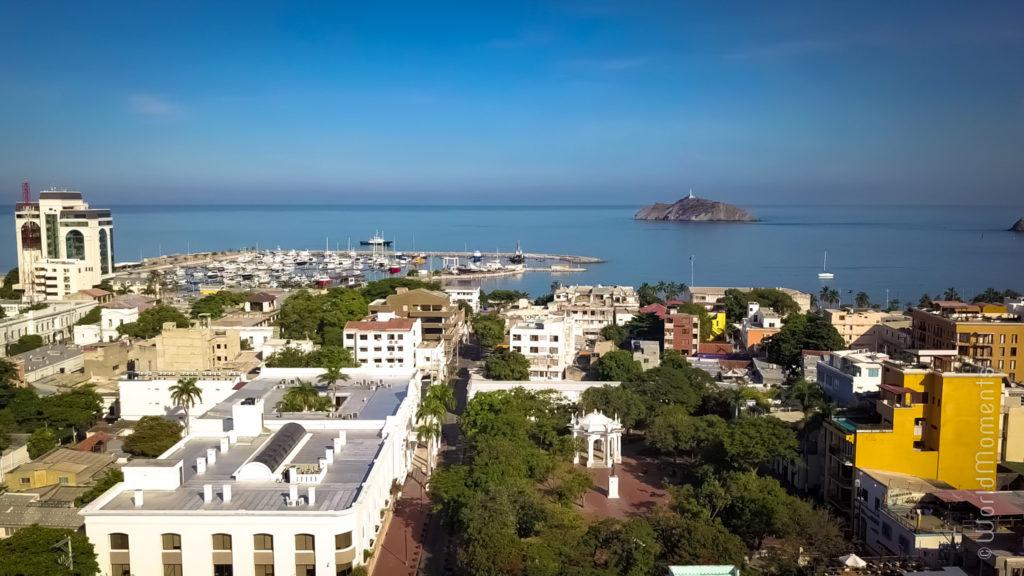 Santa Marta, Parque de los Novios, drone view
