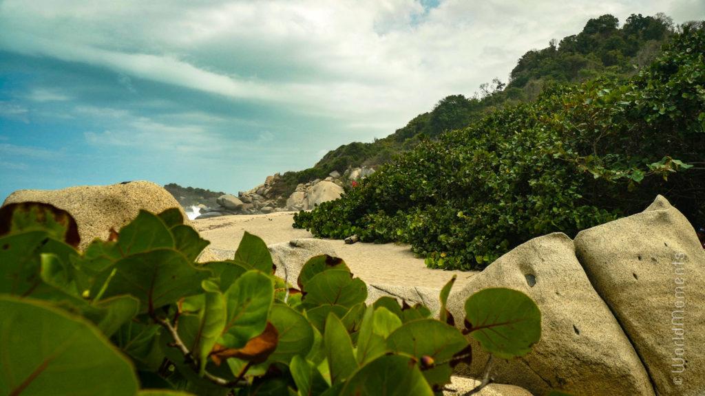 Santa Marta, Parque Tayrona, Cabo San Juan, beach view