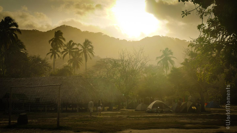 Santa Marta, Tayrona Park, camping at San Juan Cape