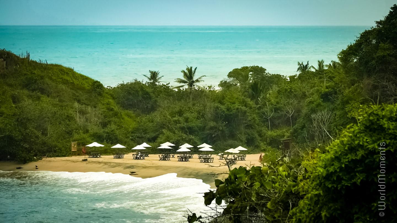 Santa Marta, Parque Tayrona, Punta Castillete, beach view