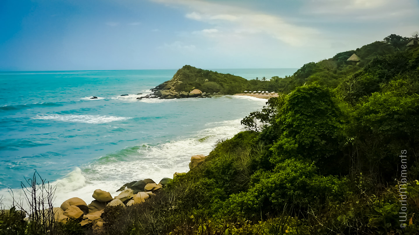 Santa Marta, Tayrona Park, Castillete Point beach view