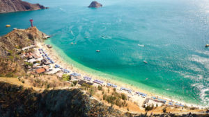 Santa Marta, Playa Blanca, beach view from the top