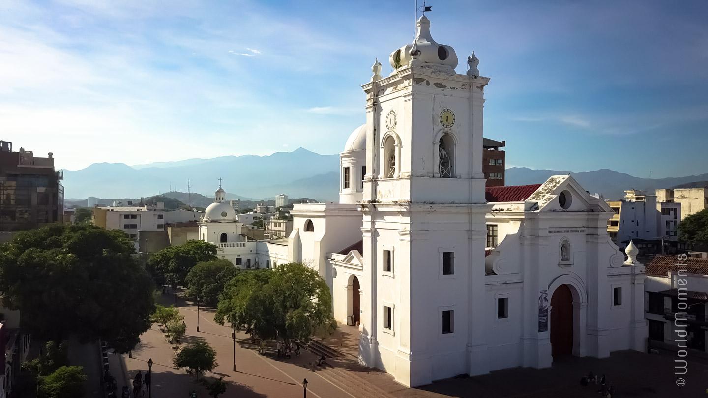 Santa Marta, San Miguel Cathedral front view