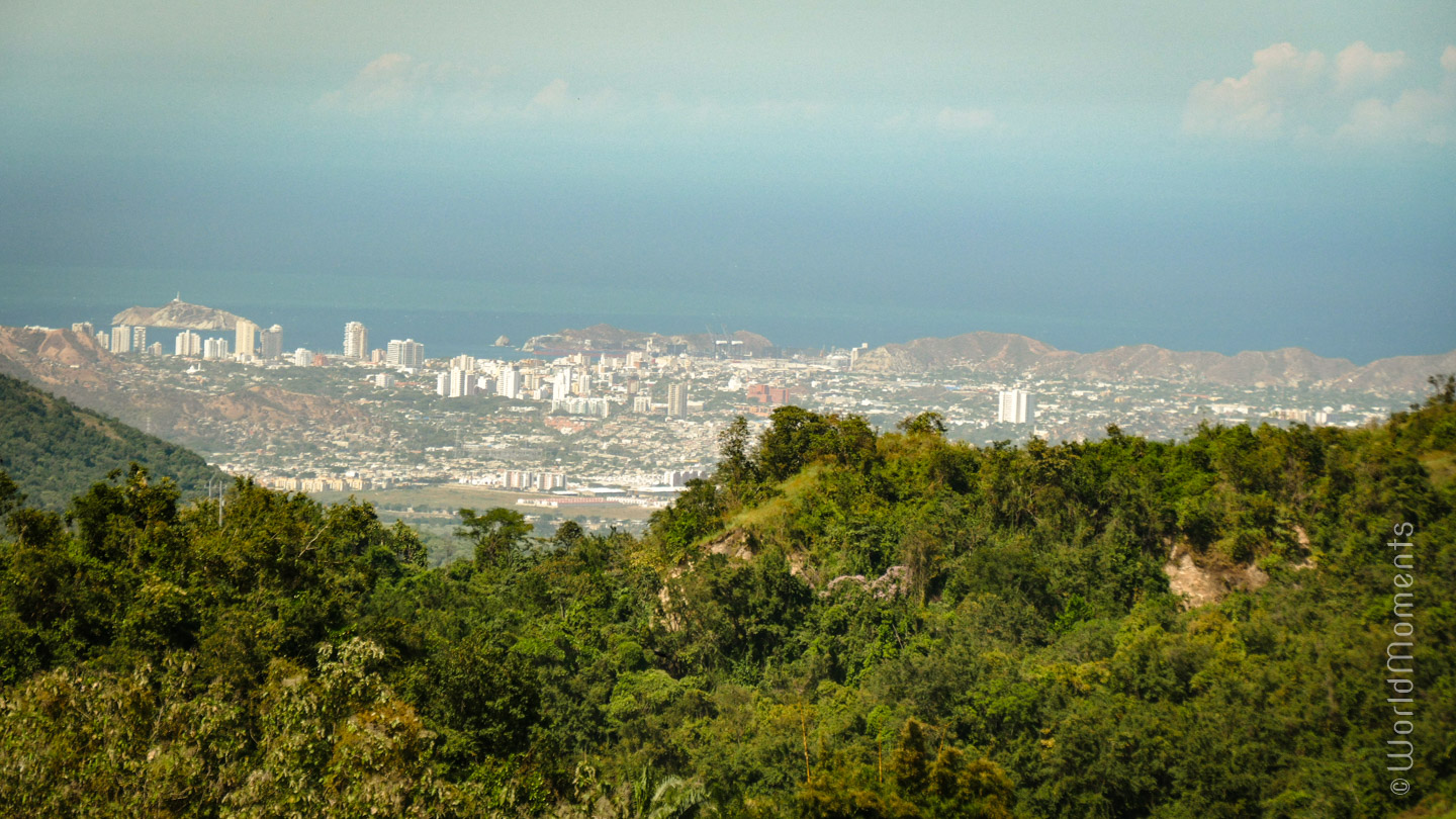 Santa Marta: view of the city from the Sierra Nevada