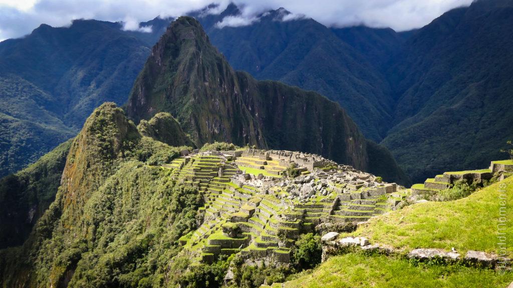 Machu Pichu city view from the Sun gate