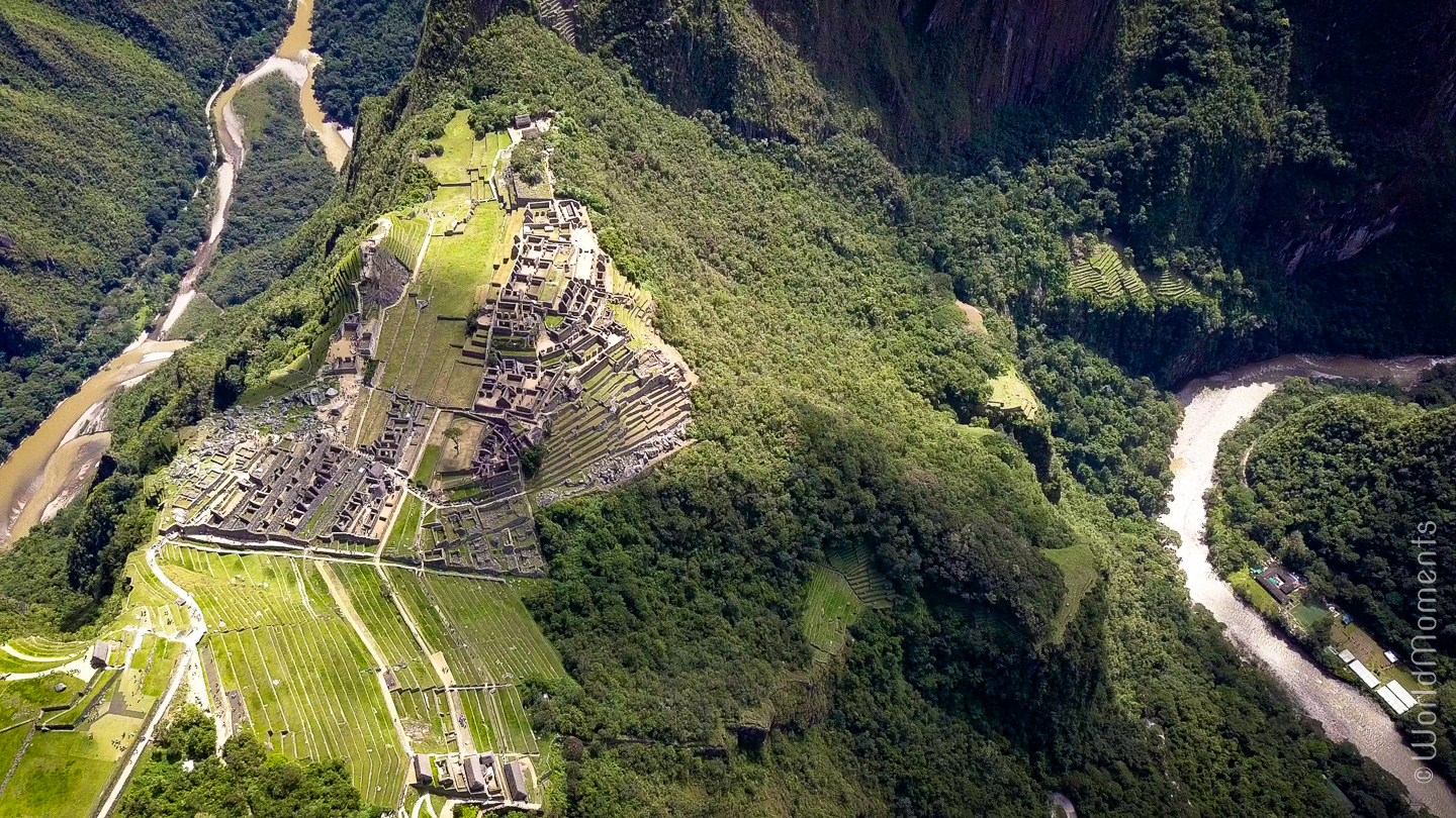 Machu Picchu ruins, view from the top