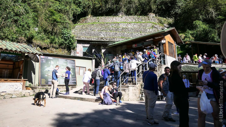 Machu Pichu main entrance ticket office