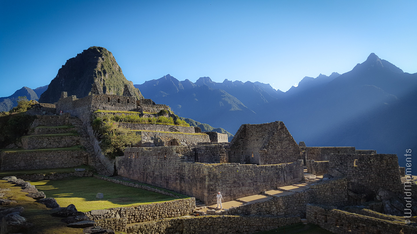 Machu Picchu view of the main square