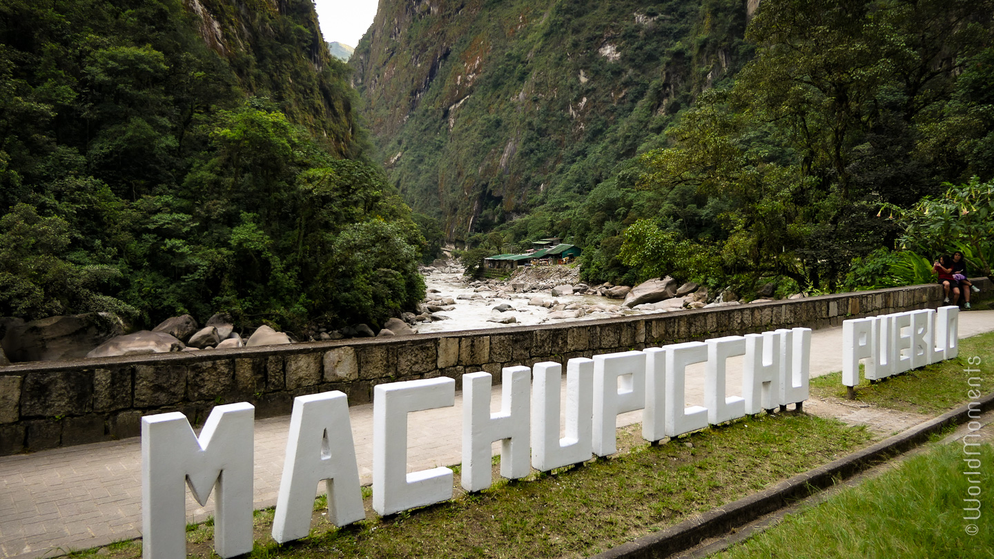 Machu Picchu town entrance Aguas Calientes