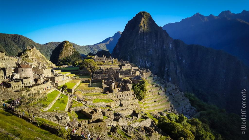 Machu Pichu view from the sun gate at sunrise