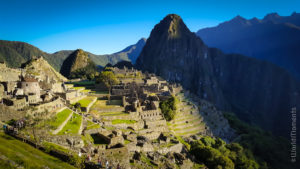 Machu Pichu view from the sun gate