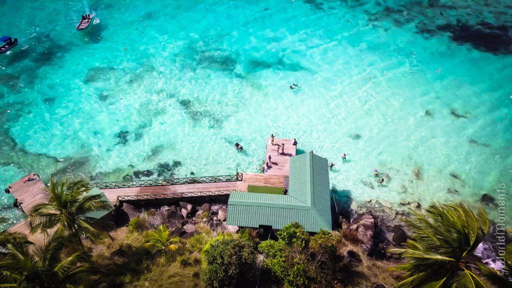 cayo cangrejo panoramica desde arriba con dron