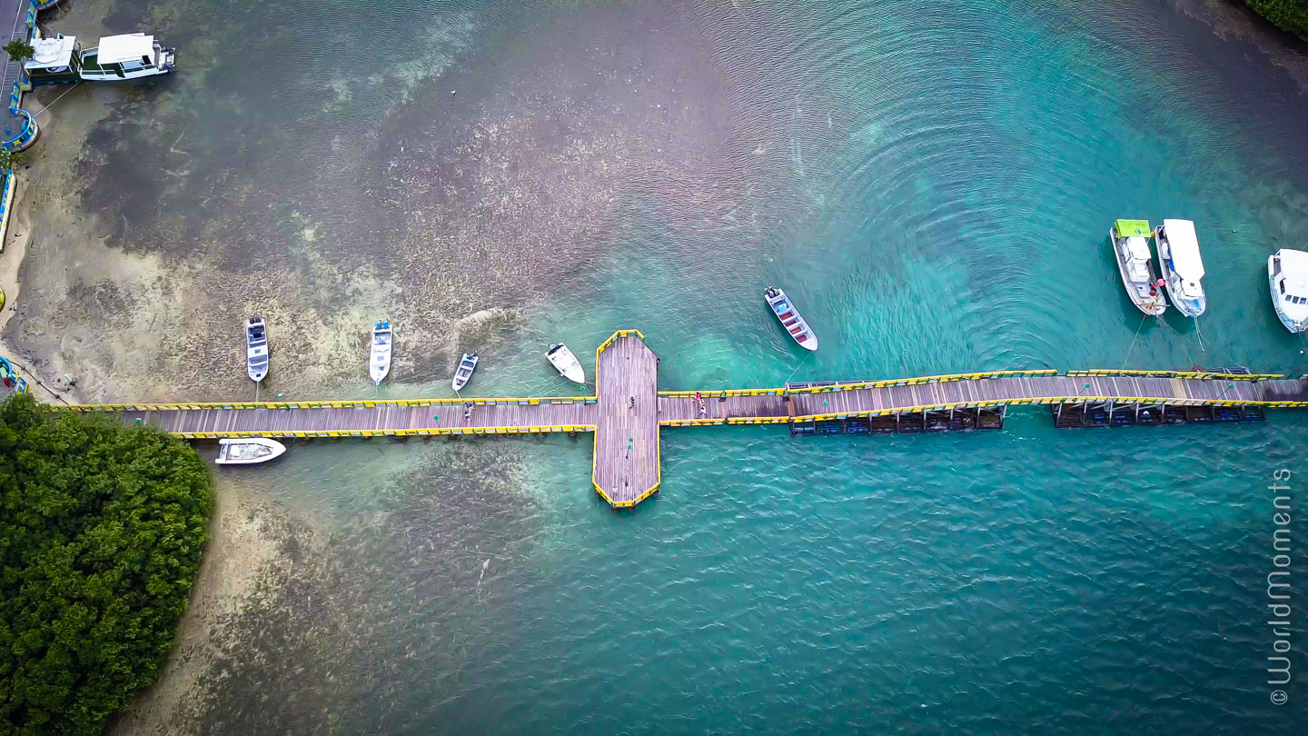 Santa Catalina Lovers Bridge photo with drone