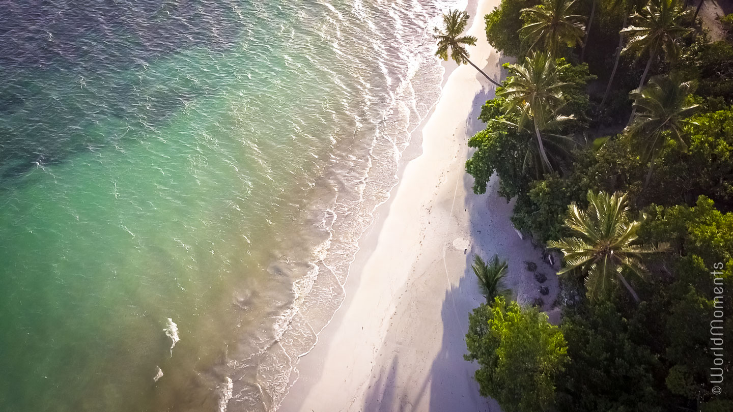 Manzanillo Beach, view from above with drone