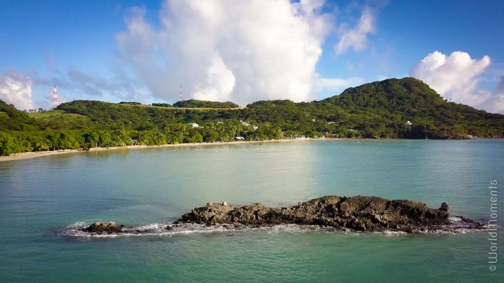 Cayo South Est panoramica desde el mar con dron