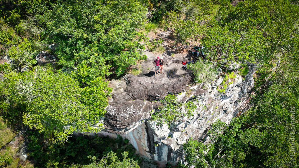 Cerro Azul view from the top shot with drone
