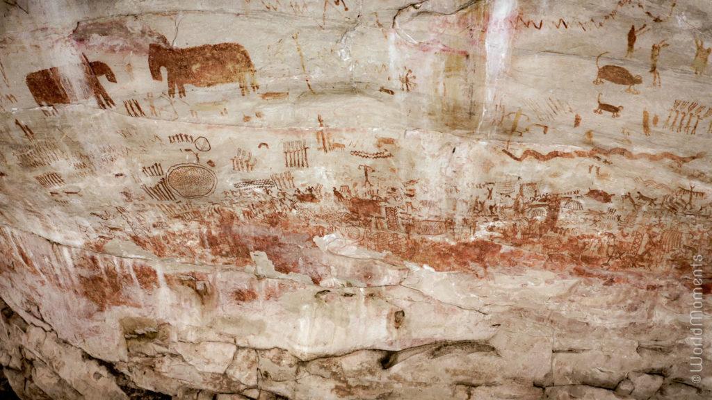 Cerro Azul indigentes painting