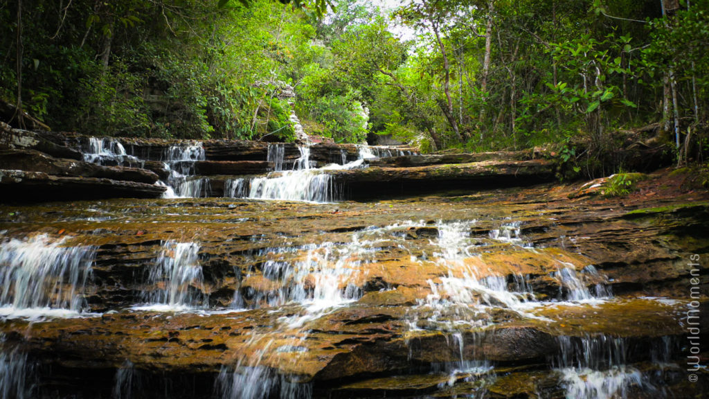 Delicia waterfalls in San Jose del Guaviare