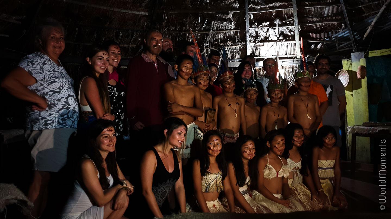 Velada indigena with local people in San Jose del Guaviare