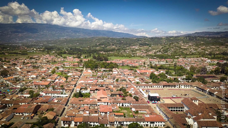 Villa de Leya vista panoramica toma con dron