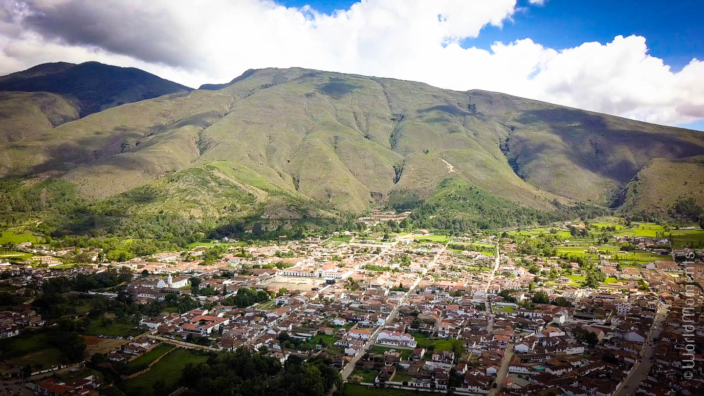Villa de Leyva shot with drone