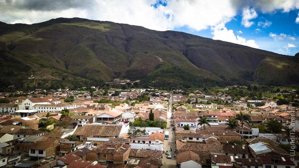 Villa de Leyva toma desde arriba con dron