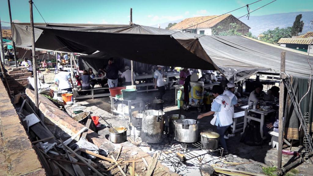 vista del Mercado semanal en Villa de Leyva
